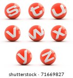 Letters On A Red Balls Isolate...