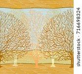 birch wood repeating pattern....   Shutterstock . vector #716698324