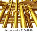 golden pipelines going criss... | Shutterstock . vector #71669890