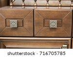 beautiful brazen door handle...   Shutterstock . vector #716705785