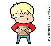 cartoon curious boy   Shutterstock .eps vector #716706889