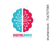 digital human brain   vector... | Shutterstock .eps vector #716707585