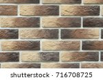 a close up of brown toned...   Shutterstock . vector #716708725