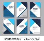 flat business brochure flyer... | Shutterstock .eps vector #716709769