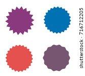 set of starburst  sunburst... | Shutterstock .eps vector #716712205