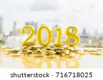 2018 new year business and... | Shutterstock . vector #716718025