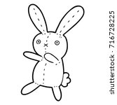 cartoon toy rabbit | Shutterstock .eps vector #716728225