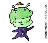 friendly cartoon spaceman...   Shutterstock .eps vector #716728255