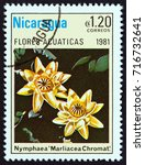 nicaragua   circa 1981  a stamp ... | Shutterstock . vector #716732641
