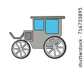 carriage or chariot icon image  | Shutterstock .eps vector #716733895
