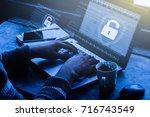 business  technology  internet...   Shutterstock . vector #716743549