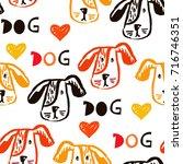 cute  hand drawn seamless...   Shutterstock .eps vector #716746351