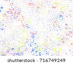 background with colorful... | Shutterstock .eps vector #716749249