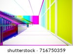 abstract white and colored... | Shutterstock . vector #716750359