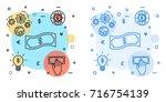 business money avatar icon... | Shutterstock .eps vector #716754139