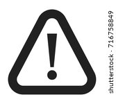 caution icon | Shutterstock .eps vector #716758849