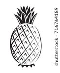 graphic pineapple  vector | Shutterstock .eps vector #716764189