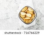fresh crunchy homemade toast... | Shutterstock . vector #716766229