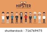 hipster style bearded man ... | Shutterstock .eps vector #716769475