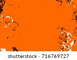 dark brown grunge background.... | Shutterstock . vector #716769727