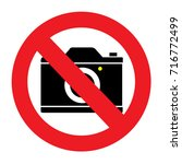 do not take photo icon. | Shutterstock .eps vector #716772499
