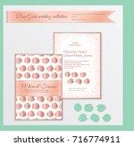 luxury wedding invitation...   Shutterstock .eps vector #716774911