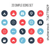 set of 20 editable trip icons....