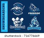 snowboard logo set   vector... | Shutterstock .eps vector #716776669