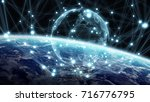 global network and datas... | Shutterstock . vector #716776795