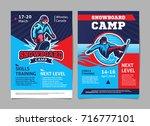 snowboard camp posters  flyer   ... | Shutterstock .eps vector #716777101