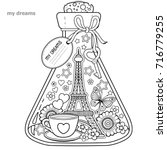 vector coloring book for...   Shutterstock .eps vector #716779255