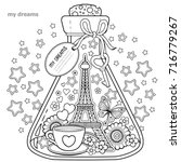 vector coloring book for... | Shutterstock .eps vector #716779267