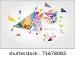 geometrical banner background | Shutterstock .eps vector #71678083