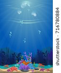 a beautiful underwater scene.... | Shutterstock .eps vector #716780884