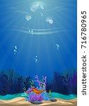 a beautiful underwater scene....   Shutterstock .eps vector #716780965