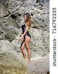 sexy girl in swimsuit | Shutterstock . vector #716792335