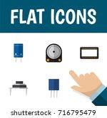 flat icon device set of...