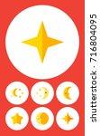 flat icon bedtime set of... | Shutterstock .eps vector #716804095