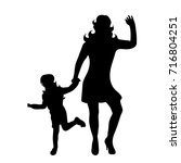 vector silhouette of family on... | Shutterstock .eps vector #716804251
