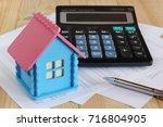 electronic calculator   model... | Shutterstock . vector #716804905