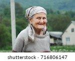 portrait of a senior woman...   Shutterstock . vector #716806147