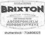 font script typeface vector | Shutterstock .eps vector #716808325