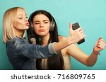 lifestyle  emotion  and people... | Shutterstock . vector #716809765