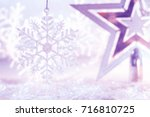 Christmas Star Silver Purple...