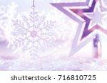 Christmas Star Silver Purple...