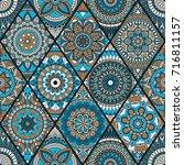 seamless pattern. vintage... | Shutterstock .eps vector #716811157