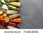 healthy food. assortment of... | Shutterstock . vector #716818381