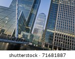 Canary Wharf is a large business and shopping development in East London. London's traditional financial centre. - stock photo