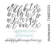 vector hand drawn alphabet.... | Shutterstock .eps vector #716822221