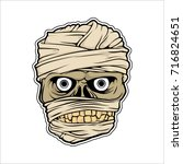 the face of a mummy. vector... | Shutterstock .eps vector #716824651